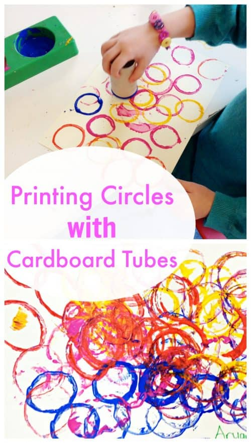 Toilet roll printing - great toddler activity!