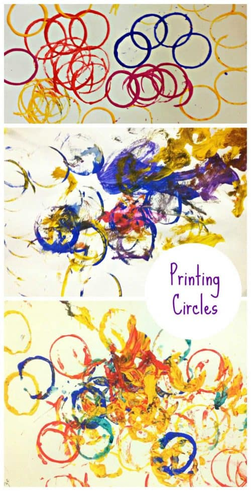 Great toddler activity - toilet roll printing