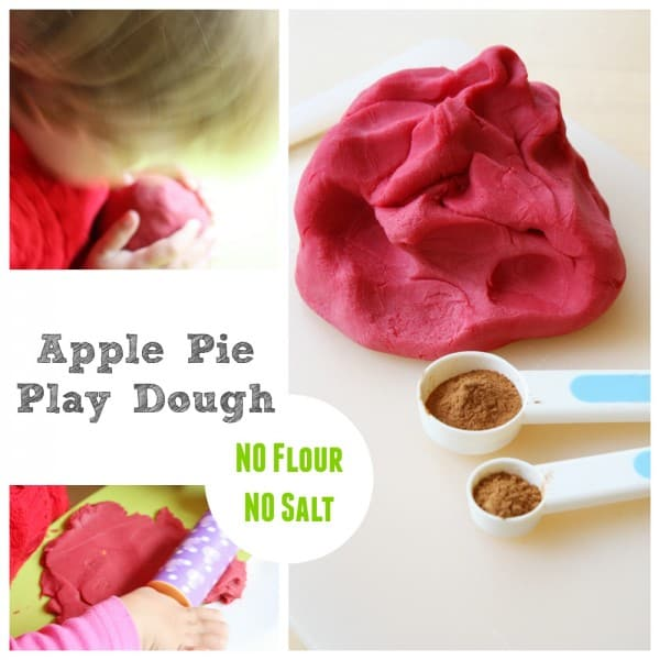 Apple Play Doh image. Follow text below on how to make the craft.