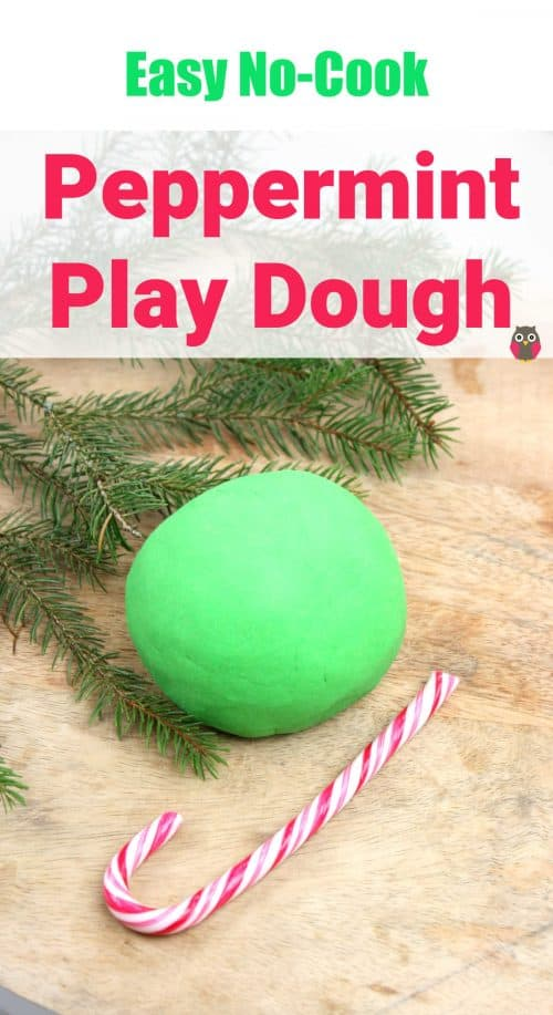 Peppermint Christmas Play Dough. Easy play dough recipe