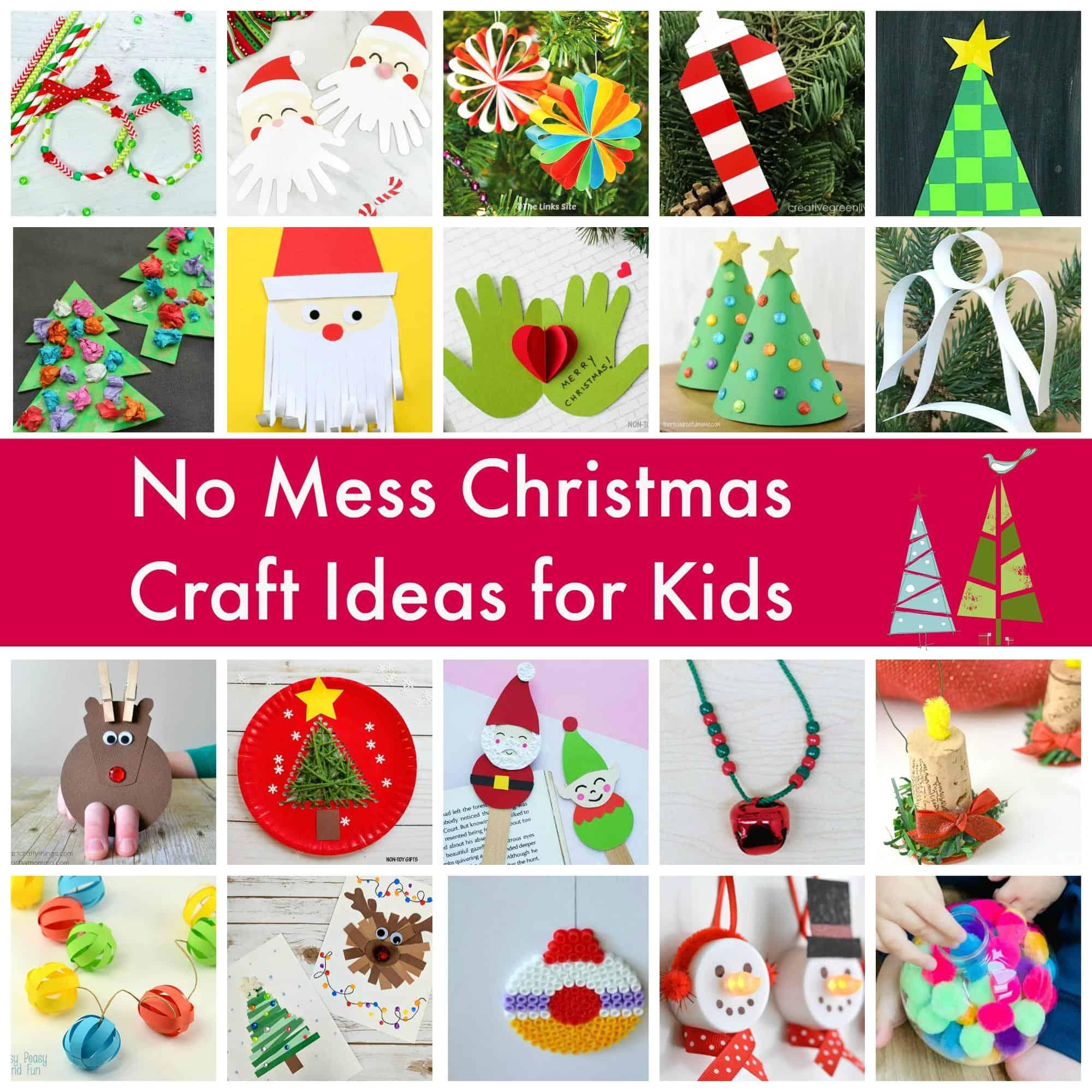 No Mess Christmas Craft Ideas For Kids Emma Owl