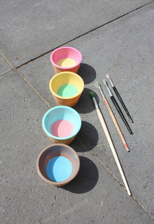 make your own sidewalk chalk paint