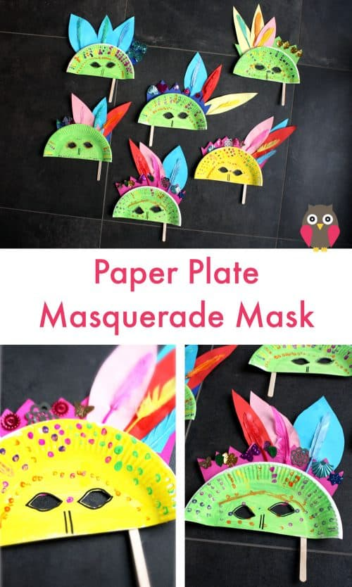 paper plate masquerade masks