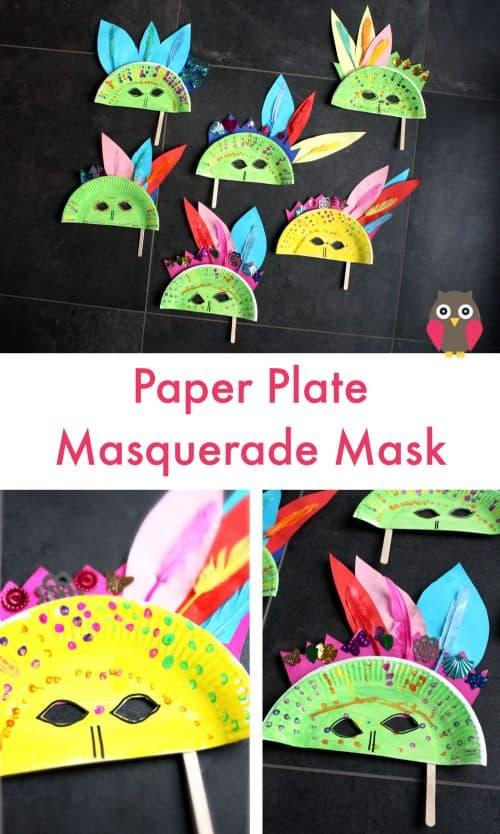paper plate masquerade masks