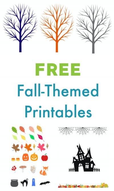 free fall themed printables