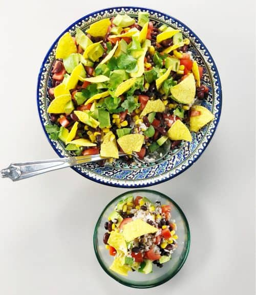 Mexican Tortilla Salad - easy recipe for a family favourite