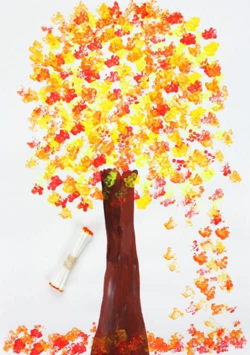 Q-Tip Printed Leaves