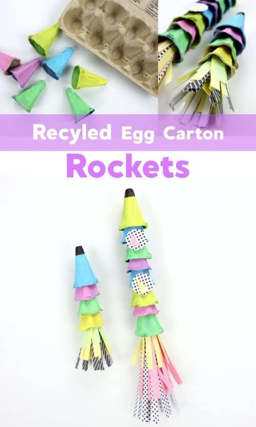 Recycled Egg Carton Rocket