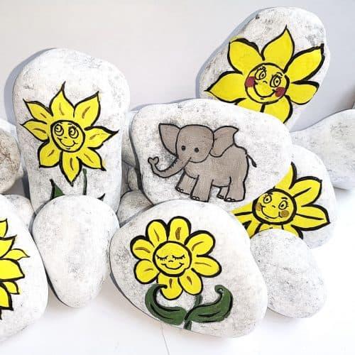 Kids' Story Stone Painting