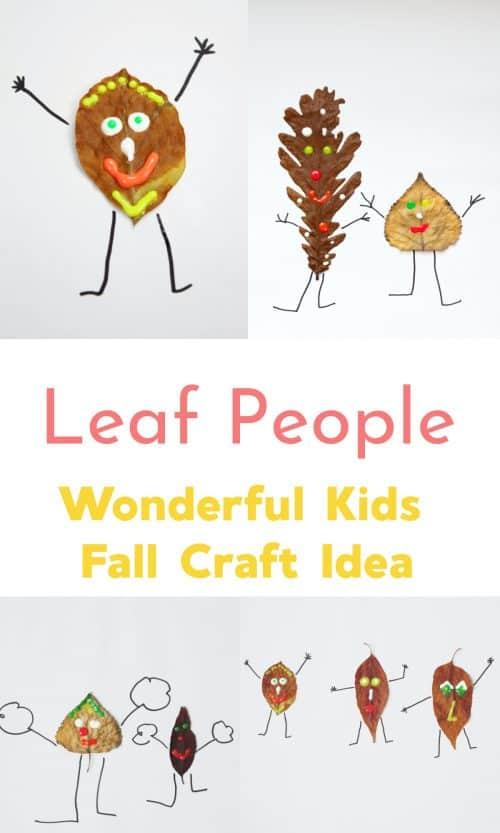 Leaf People Fall Craft