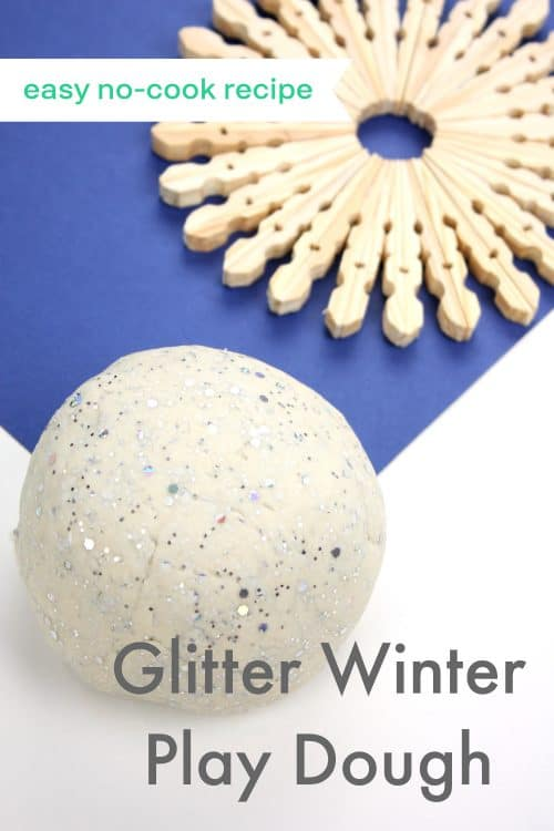 Easy No-Cook Winter Play Dough Recipe