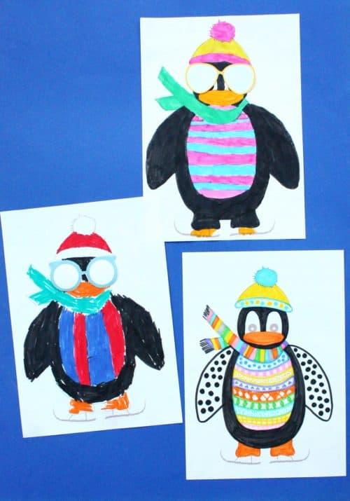Cool Penguin Free Printable