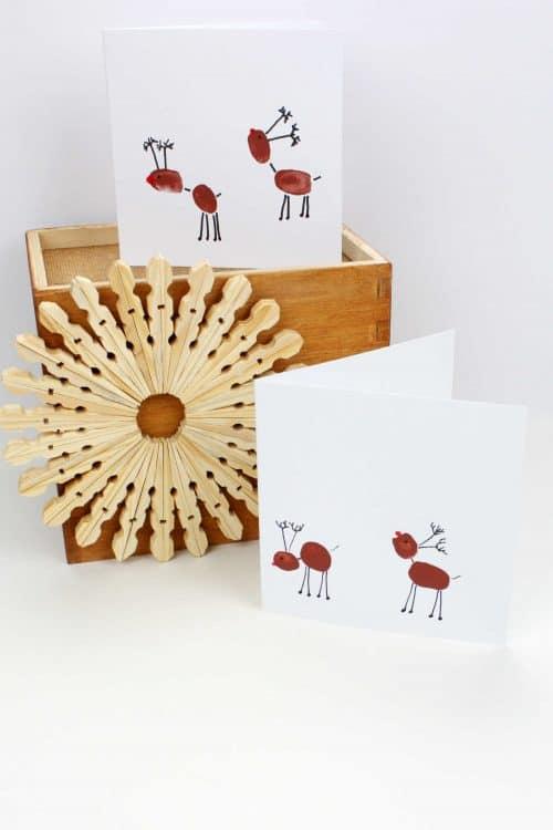 Fingerprint Reindeer Christmas Craft