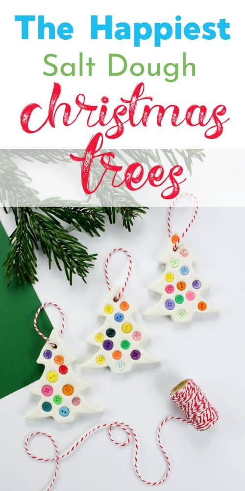 The Happiest Salt Dough Christmas Trees
