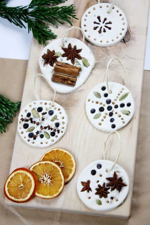 Christmas Spice Ornaments with Salt Dough