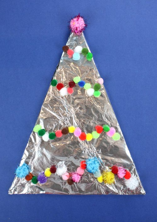 These aluminum foil Christmas tree decorations go BLING! In fact they go BLING so loud you can hear them!