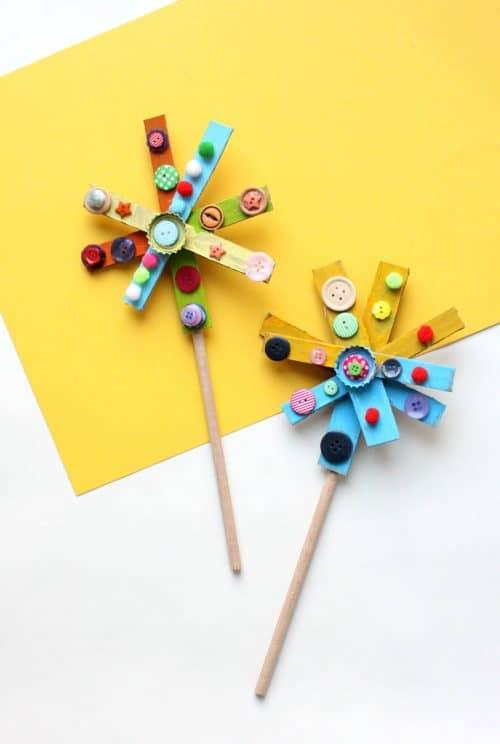 Recycled Cardboard Star Wand