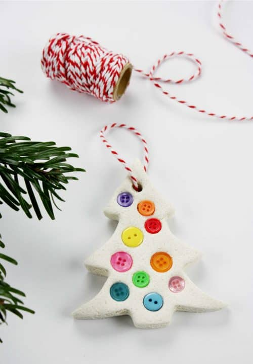 The Happiest Salt Dough Christmas Trees