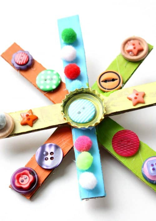 Recycled Cardboard Star Wand craft idea for kids