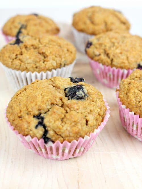 Blueberry & Choc-chip Whole-wheat and Oatmeal Muffins