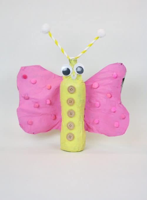 Valentine's Day Love Bugs - easy kids craft idea made with recycled plastic