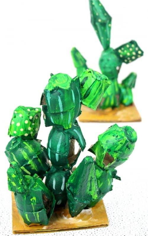 Recycled Egg Carton Cacti Craft
