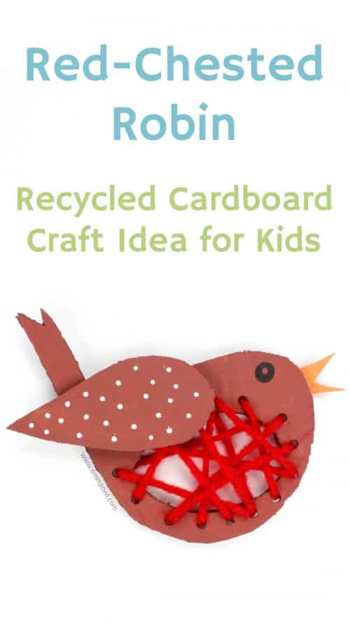 Red chested robin - great idea for a winter themed kids craft.
