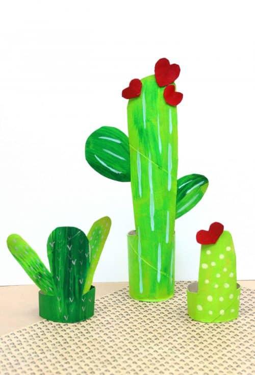 Recycled Cardboard Tube Cacti