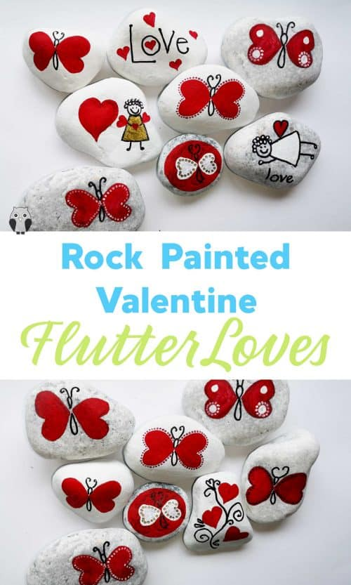 Rock Painted Valentines Flutterloves