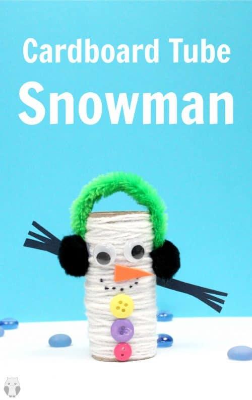 Cardboard Tube Snowman Craft