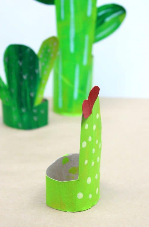 Recycled Cardboard Tube Cacti