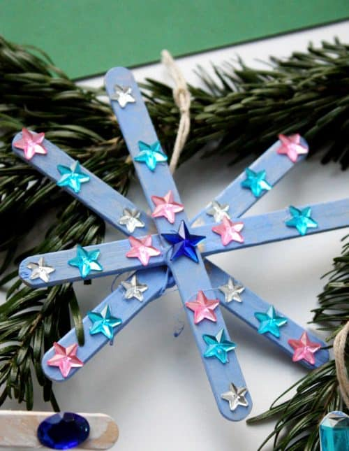 popsicle stick snowflakes for winter