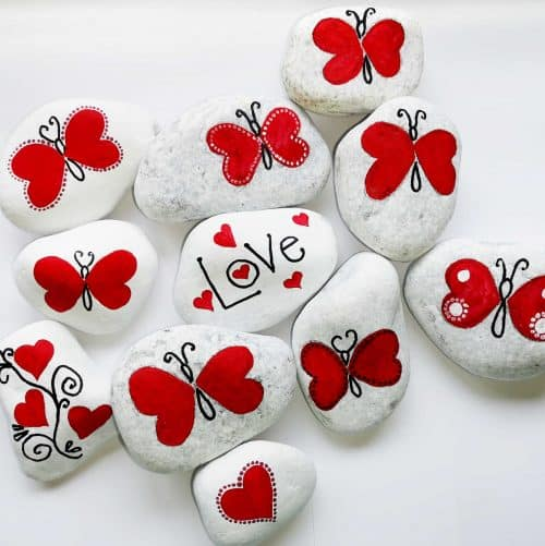 Rock Painted Valentines Flutterloves