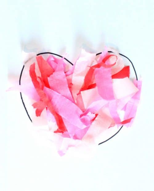 Tissue Paper Watercolor Heart