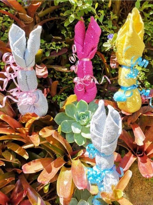 washcloth Easter bunny - Easy Easter Gift
