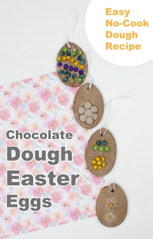 Chocolate  Dough Easter Eggs. This is a fantastic Easter Craft idea with Kids.