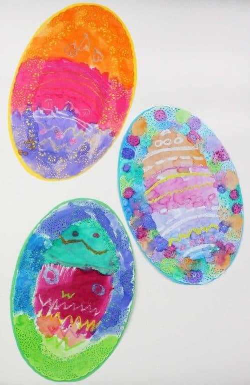 Beautiful Doily Easter Eggs. A Wonderful Easter Craft Idea.